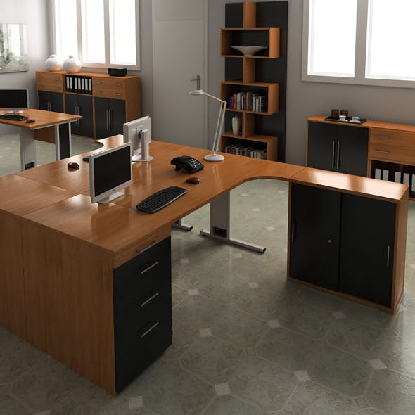 Office Set 16 - 3DOcean Item for Sale
