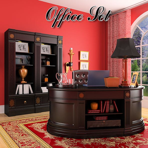 Office Set 19 - 3DOcean Item for Sale