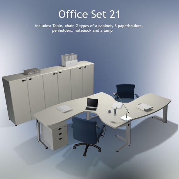Office set 21 - 3DOcean Item for Sale