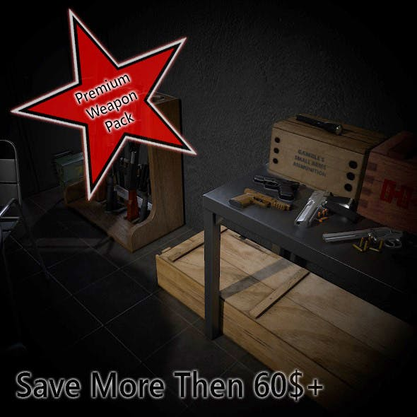 Premium Weapon Pack - 3DOcean Item for Sale