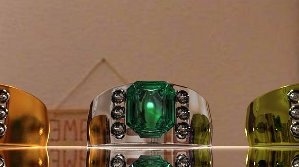 Emerald Ring - 3DOcean Item for Sale