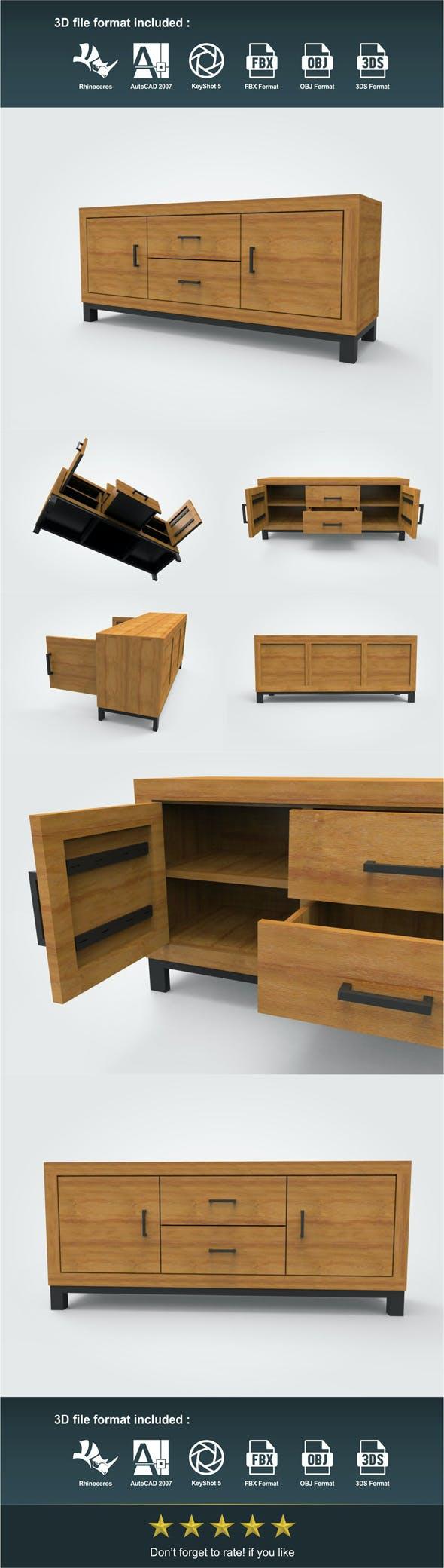 TV Lowboard - 3DOcean Item for Sale