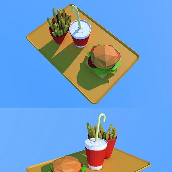 Low Poly Burger Menu