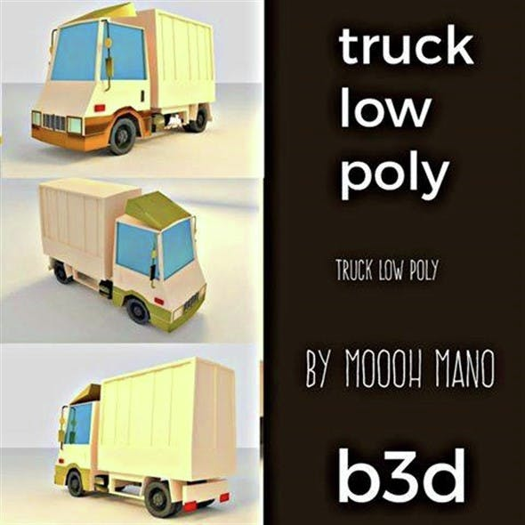 TRUK LOW POLY - 3DOcean Item for Sale