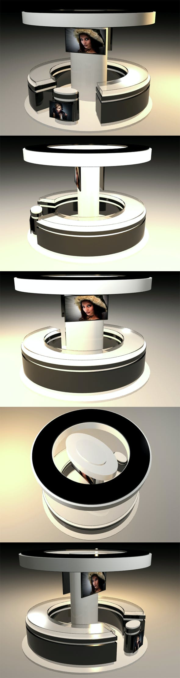 Exhibition Stand - Circular Shape 3D  - 3DOcean Item for Sale