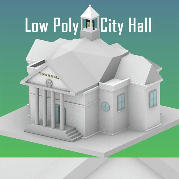 Low Poly City Hall