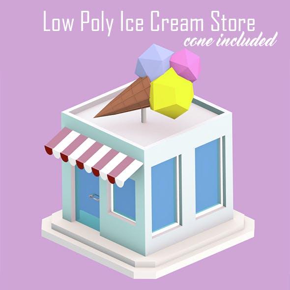Low Poly Ice Cream Store