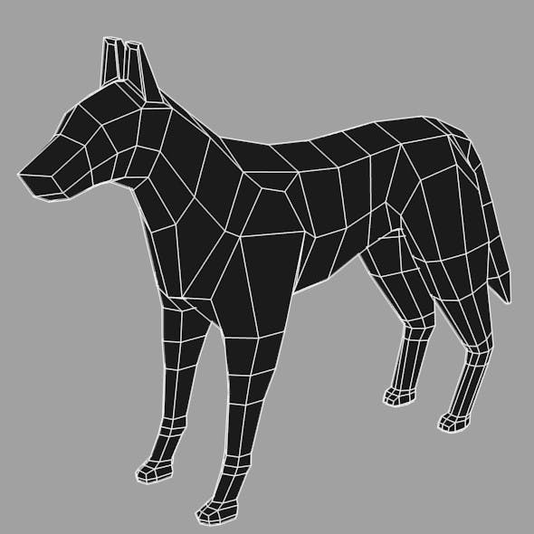 Low Poly Base Mesh Dog - 3DOcean Item for Sale