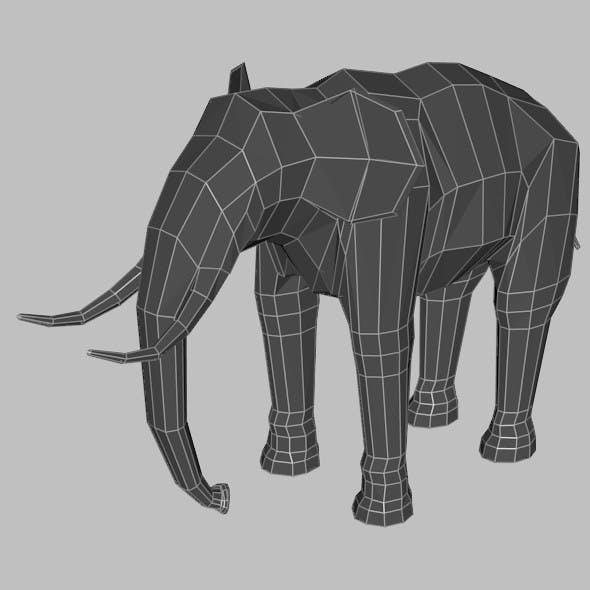 Low Poly Base Mesh Elephant