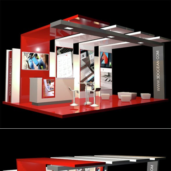 Modern Exhibition Stand and Elements