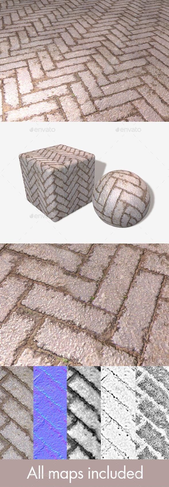 Drying Floor Bricks Seamless Texture - 3DOcean Item for Sale