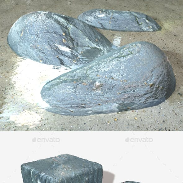 Wet Grey Rock Seamless Texture
