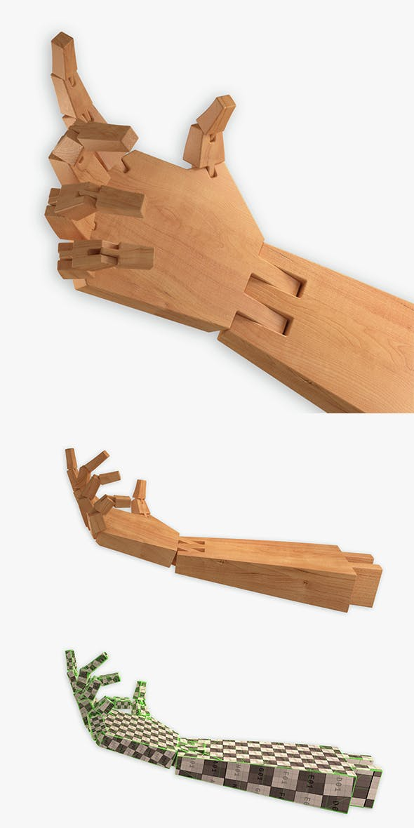 Wooden Hand - 3DOcean Item for Sale