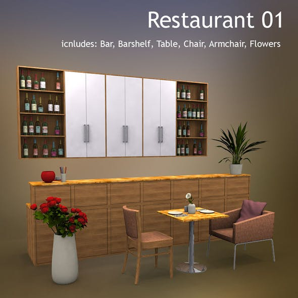 Restaurant 01 - 3DOcean Item for Sale