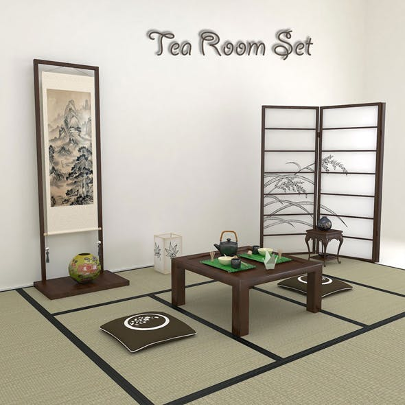 Japanese Tea Room - 3DOcean Item for Sale