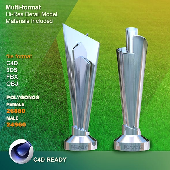 ICC Cricket  T20 World Cup 2016 Trophy - 3DOcean Item for Sale