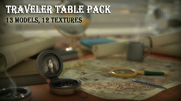 Traveler Table Pack - 3DOcean Item for Sale