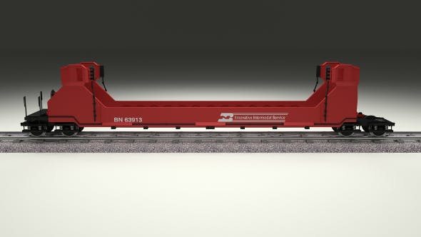 Red Train Well Car - 3DOcean Item for Sale