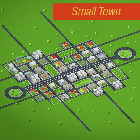 Small Town - 3DOcean Item for Sale