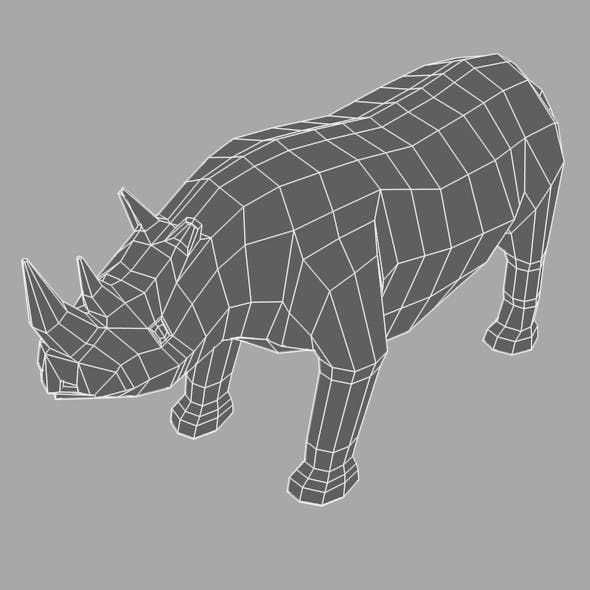 Low Poly Base Mesh Rhino