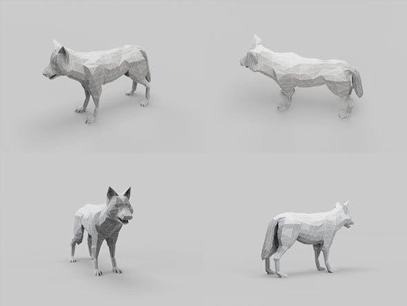Low Poly Mesh Wolf - 3DOcean Item for Sale