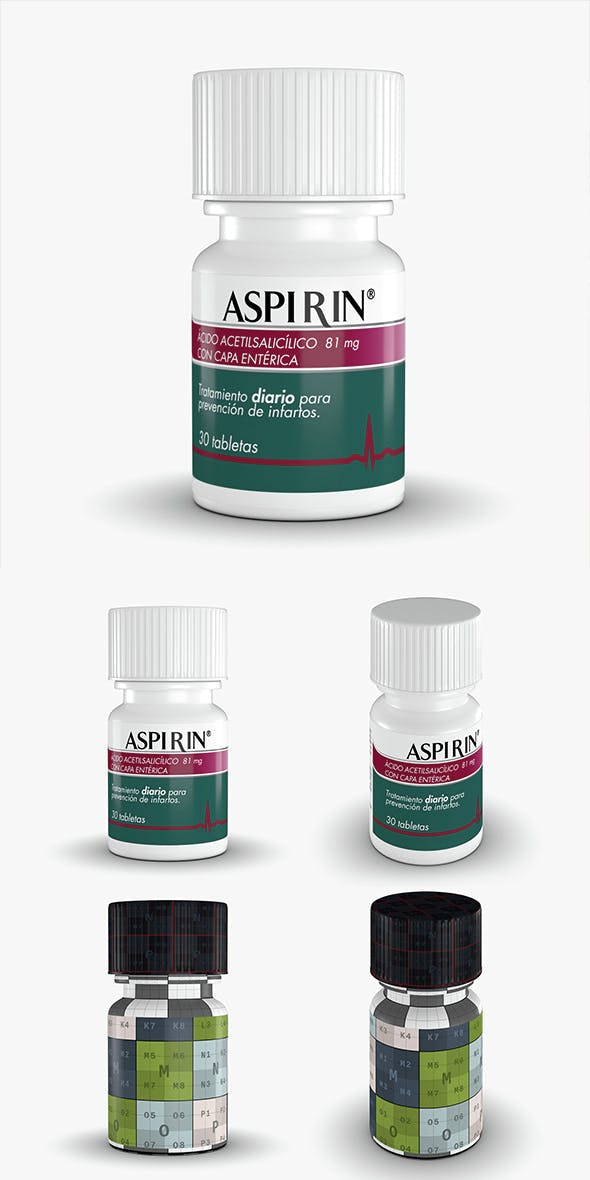 Aspirin Bottle - 3DOcean Item for Sale