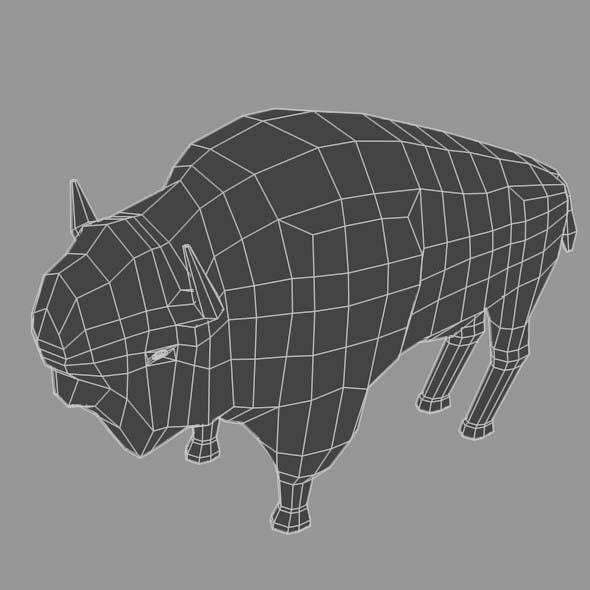 Low Poly Base Mesh Buffalo