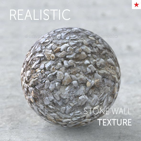 Stone wall seamless realistic texture
