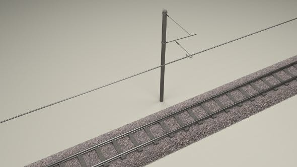 Train Track Electrified - 3DOcean Item for Sale