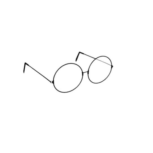 Low Poly Retro Glasses