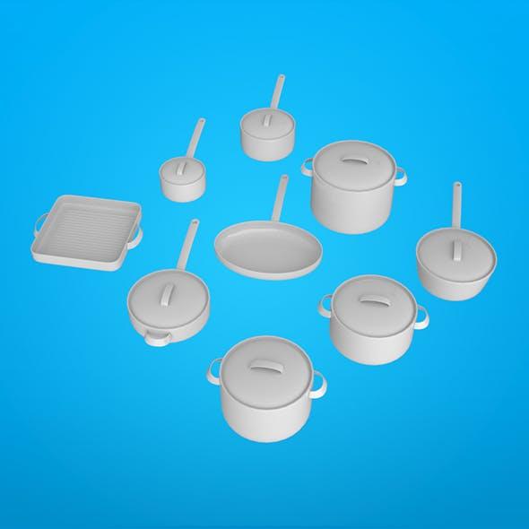 Cookware vol 01 - 3DOcean Item for Sale