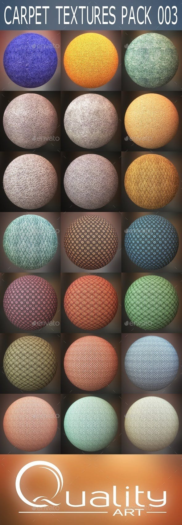 Carpet Textures Pack 003 - 3DOcean Item for Sale