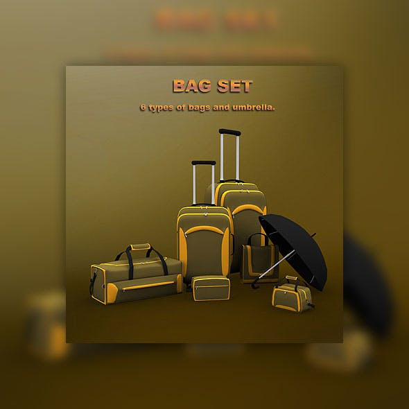 Bag set  - 3DOcean Item for Sale