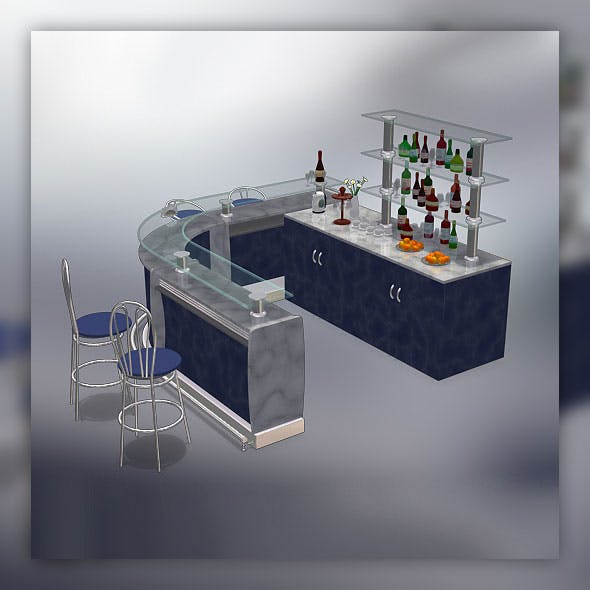 Bar set - 3DOcean Item for Sale