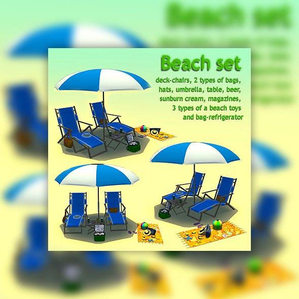 Beach set - 3DOcean Item for Sale