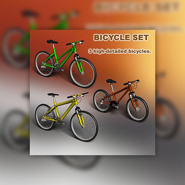 Bicycle set - 3DOcean Item for Sale