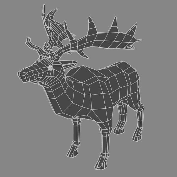 Low Poly Base Mesh Deer