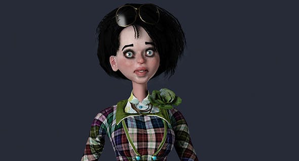 Cartoon Female - 3DOcean Item for Sale