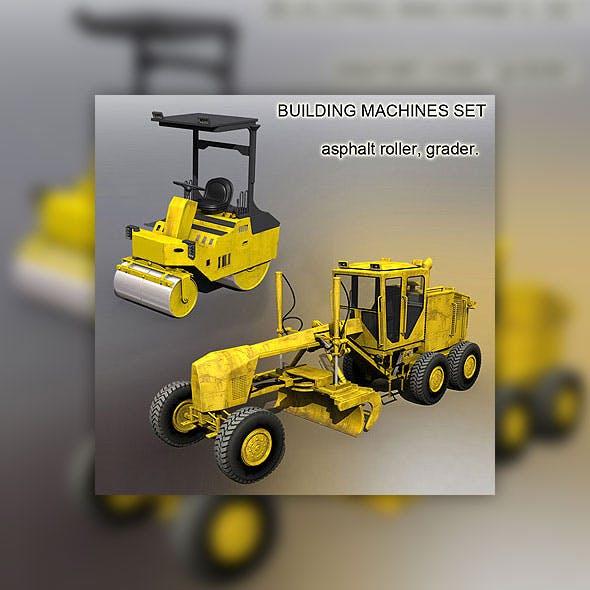 Building machines set - 3DOcean Item for Sale