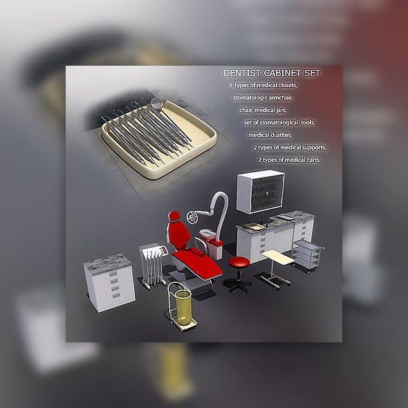 Dentist Office set - 3DOcean Item for Sale