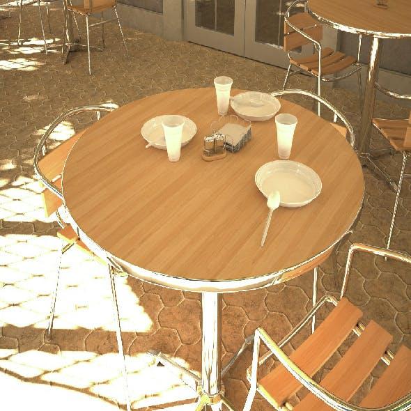 Street Cafe VRay
