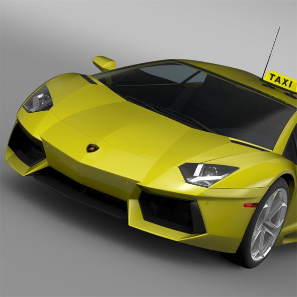 Lamborghini Aventador Taxi 2016 - 3DOcean Item for Sale