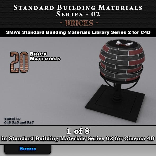 Standard Building Materials S02 - Bricks for C4D
