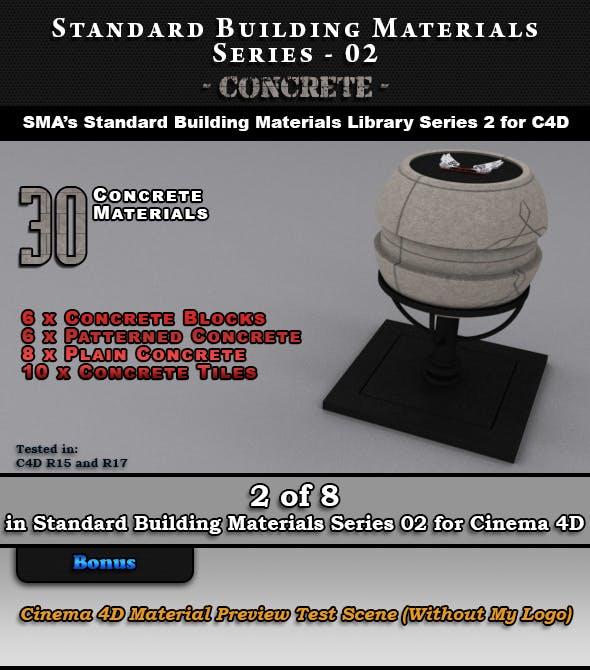 Standard Building Materials S02 - Concrete for C4D - 3DOcean Item for Sale