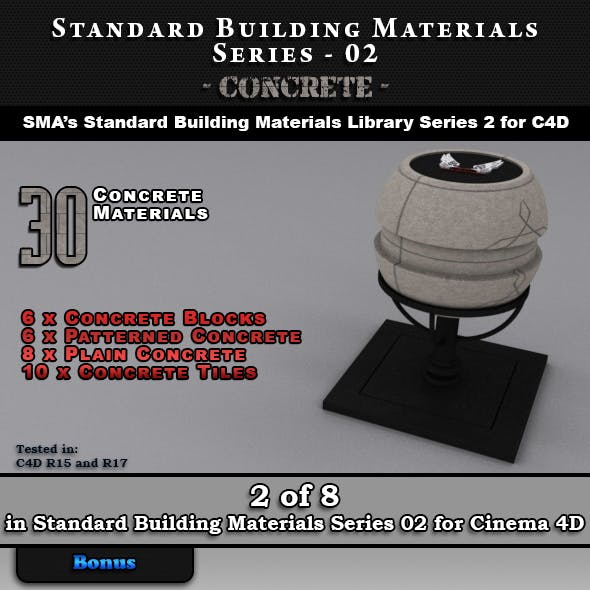 Standard Building Materials S02 - Concrete for C4D