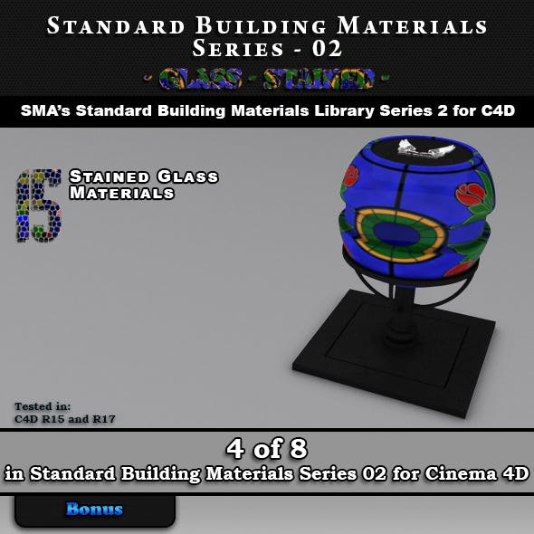 Standard Building Materials S02 - Glass - Stained for C4D