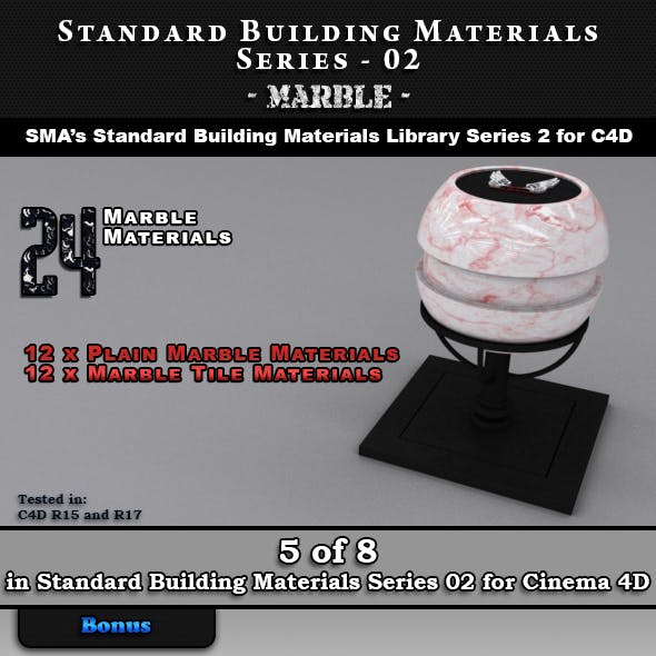 Standard Building Materials S02 - Marble for Cinema 4d