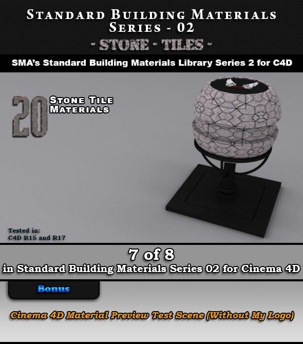 Standard Building Materials S02 - Stone Tiles for Cinema 4D - 3DOcean Item for Sale