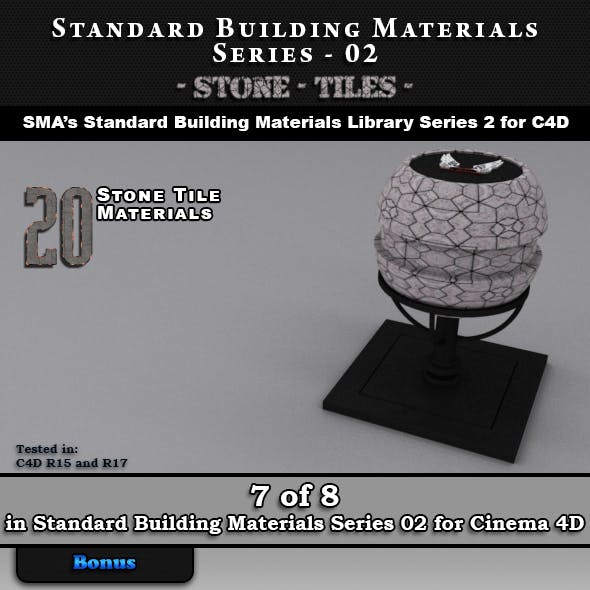 Standard Building Materials S02 - Stone Tiles for Cinema 4D