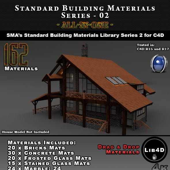 Comprehensive Standard Building Materials S02 - AIO for Cinema 4D